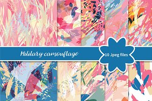 №268 Camouflage military background