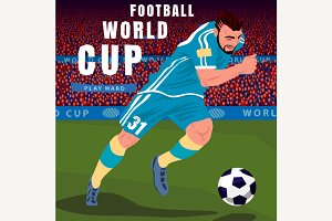 Football player in championship