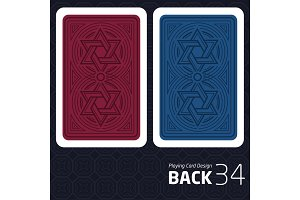 Card Back Abstract Pattern Background Underside