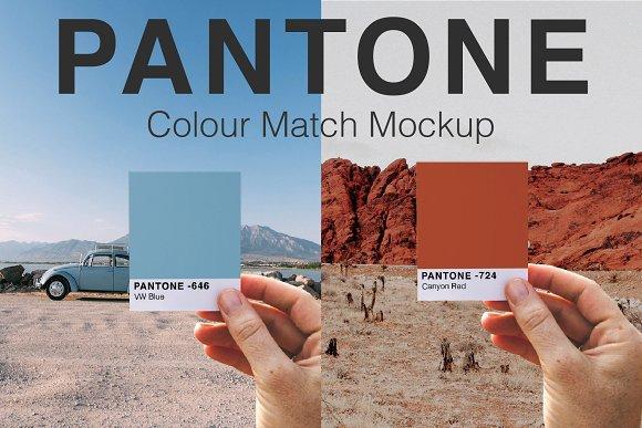 Pantone Colour Match Mockup PSD