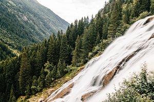 Grawa Waterfall in Austrian Alps