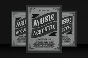 Vintage Music Acoustic Flyer