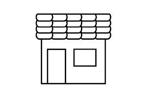 store line icon. vector illustration