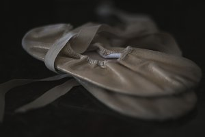 Moody Pink Ballet Slipper