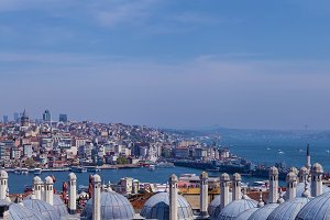 Istanbul view, Turkey in a beautiful summer day