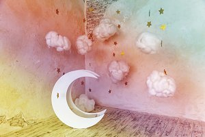 interior moon and stars