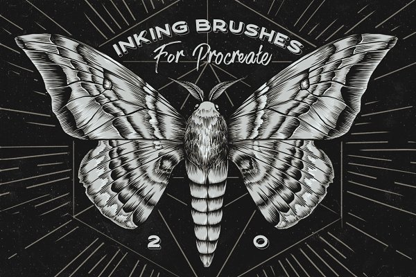 Photoshop Brushes - Procreate Inking brushes - set of 20