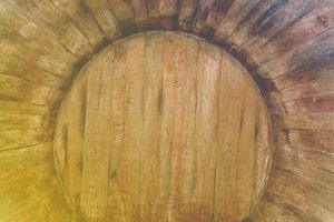 barrels for wine in old cellars