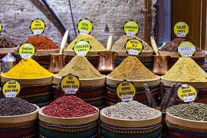 Spices on the Grand Bazaar in Istanbul