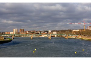 View of Garonne river in Toulouse, France