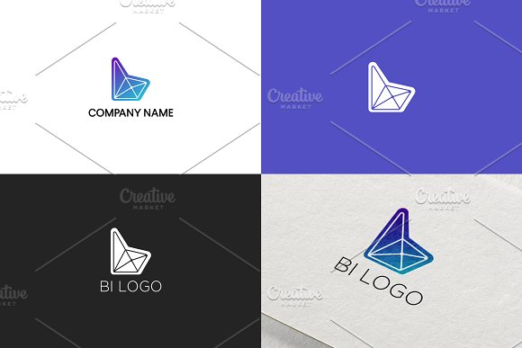 Simple Logo Design For Letter B