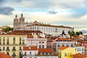 View of the Monastery of Sao Vicente de Fora in Lisbon