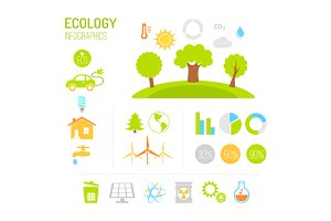 Ecology and organic infographics