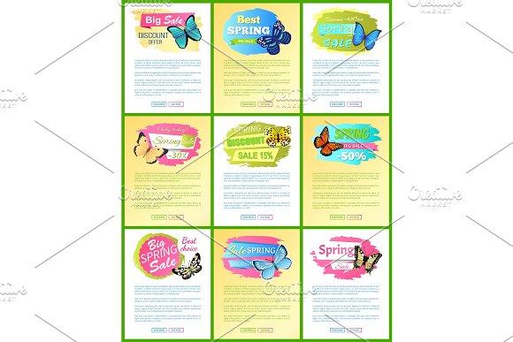 Big Sale Discount Offer Web Vector Illustration