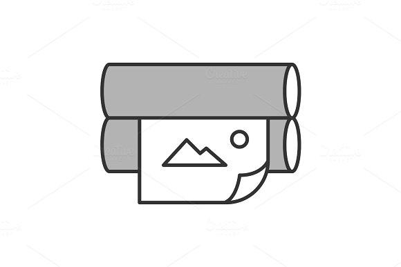 Offset Printer Color Icon