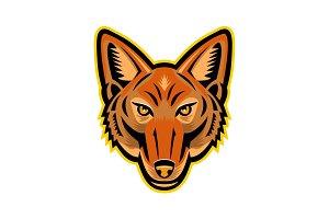 Jackal Head Front Mascot
