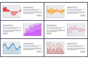 Statistics and Analytics Infographics, Vector Card