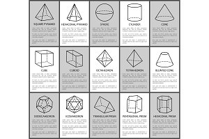 Figures Set, Sphere and Cone, Cube and Cuboid