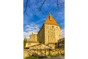 City walls of Carcassonne - France, Languedoc-Roussillon