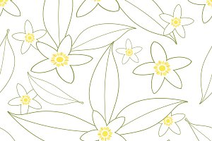 Orange blossom pattern I