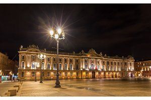 Capitole de Toulouse by night - France, Midi-Pyrenees