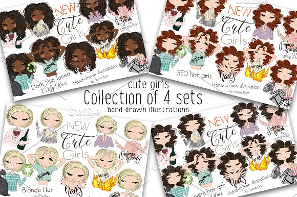 Collection of 4 Sets Girls
