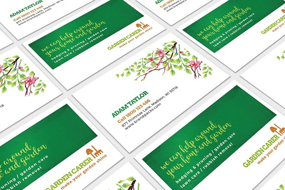 Gardener Business Card Template Business Card Templates Creative
