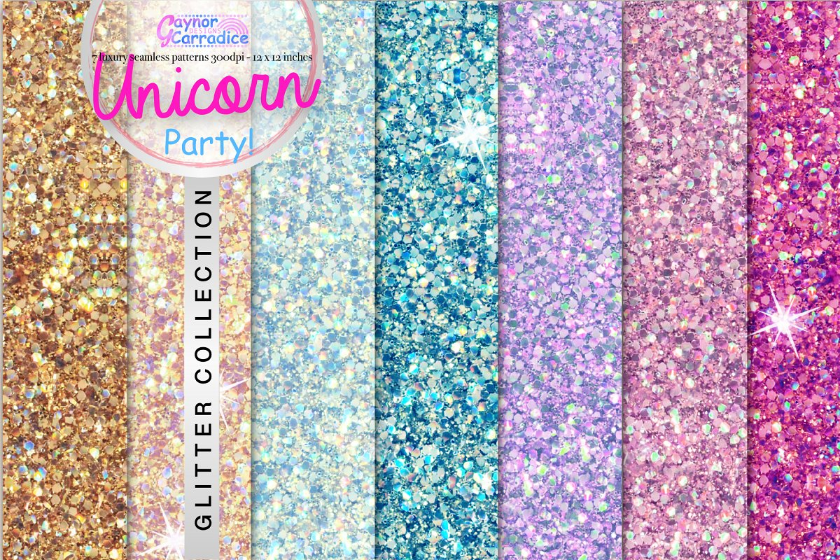 Unicorn Party Glitter Collection