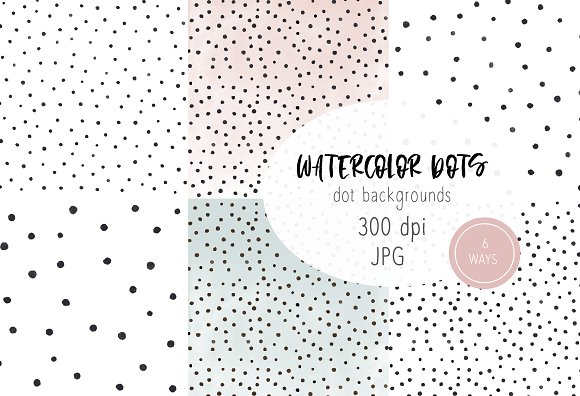 Watercolor Dots Background