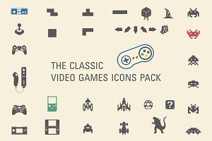 The classic video games icons pack