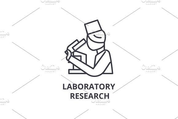 Laboratory Research Thin Line Icon Sign Symbol Illustation Linear Concept Vector