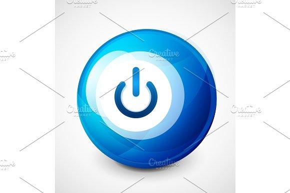 Start Power Sphere Button Ui Icon Design On Off Symbol
