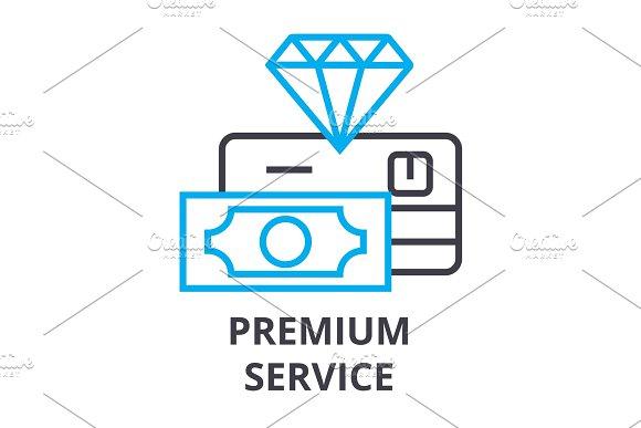 Premium Service Thin Line Icon Sign Symbol Illustation Linear Concept Vector