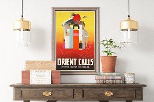 Orient Calls - Vintage Travel Poster