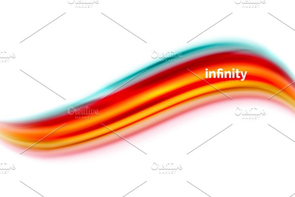 Vector 3D Fluid Colors Wave Background