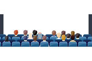 People Sit Cinema Hall