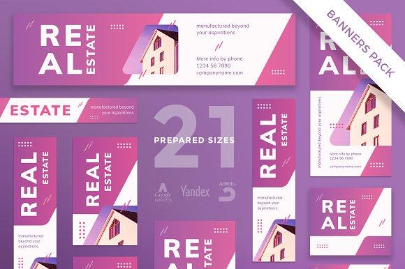 Banners Pack Real Estate Agency