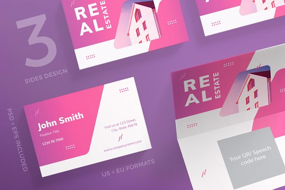 Business Cards Real Estate Agency