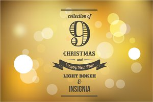 9 Light Bokeh & insignia backgrounds