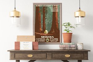 Sequoia National Park USA Poster