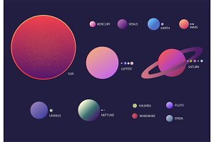 Solar system illustration