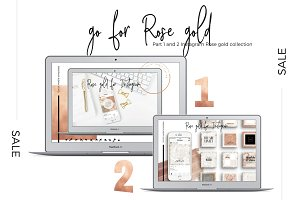 Sale! Instagram Rose gold 1 + 2