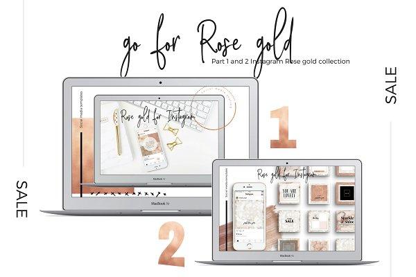 Sale! Instagram Rose gold 1 + 2
