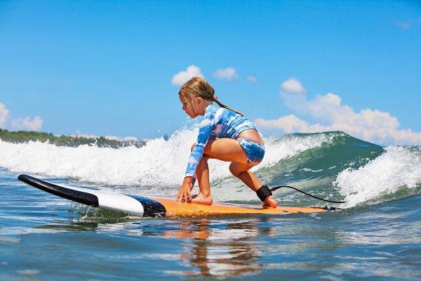 Sports Stock Photos: Tropical Studio - Surfer girl