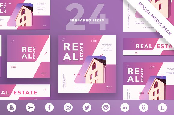 Social Media Pack Real Estate Agen