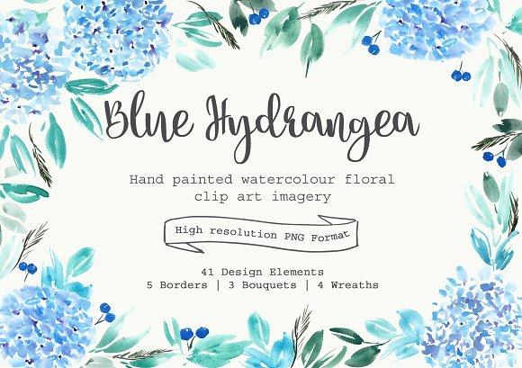 Blue Hydrangea Clipart