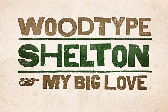 Shelton in Display Fonts