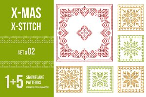 Cross stitch snowflakes patterns, 02