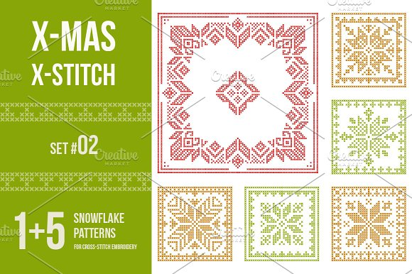 Cross Stitch Snowflakes Patterns 02