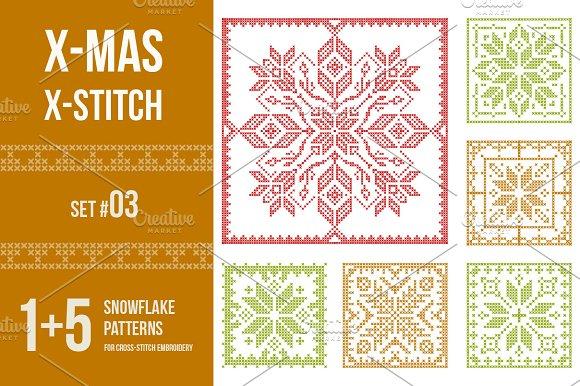 Cross Stitch Snowflakes Patterns 03